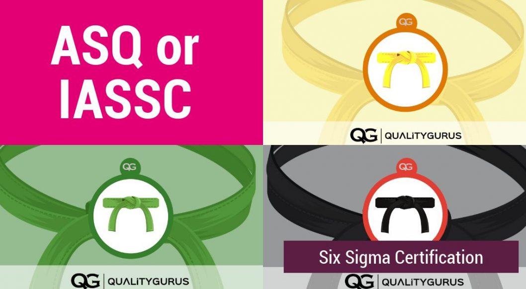 Six Sigma Certification Asq Or Iassc Quality Gurus